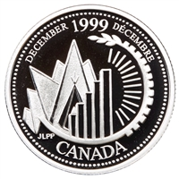 1999 Canada December 25-cents Silver Proof