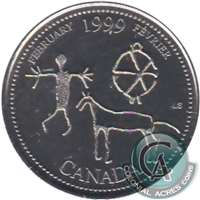 1999 Canada Febuary 25-cents Proof Like