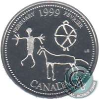 1999 Canada Febuary 25-cents Silver Proof