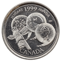 1999 Canada January 25-cents Brilliant Uncirculated (MS-63)