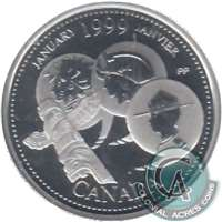 1999 Canada January 25-cents Silver Proof