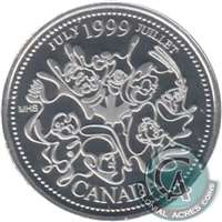 1999 Canada July 25-cents Silver Proof