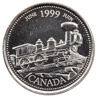 1999 Canada June 25-cents Brilliant Uncirculated (MS-63)