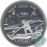 1999 Canada March 25-cents Silver Proof