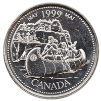 1999 Canada May 25-cents Brilliant Uncirculated (MS-63)