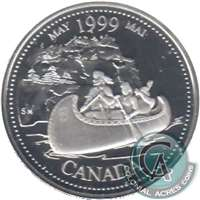 1999 Canada May 25-cents Silver Proof