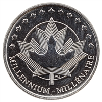 1999 Canada Millennium Token 25-cents Proof Like (From Oval Board)