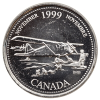 1999 Canada November 25-cents Brilliant Uncirculated (MS-63)