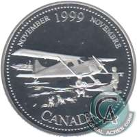1999 Canada November 25-cents Silver Proof