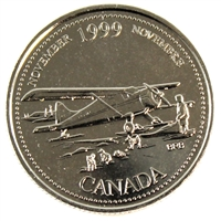 1999 Canada November Mule 25-cents Proof Like $