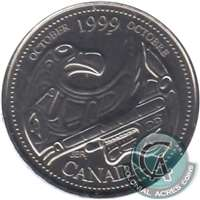 1999 Canada October 25-cents Proof Like