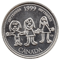 1999 Canada September 25-cents Brilliant Uncirculated (MS-63)
