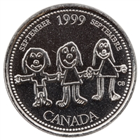 1999 Canada September 25-cents Proof Like