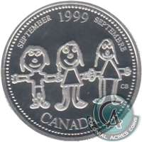 1999 Canada September 25-cents Silver Proof