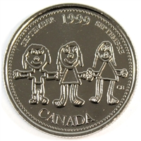 1999 Canada September Mule 25-cents Proof Like $