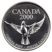 2000 Dove Millennium token issued by the Royal Canadian Mint and Canada Post.