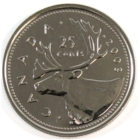 2003P Canada Old Effigy 25-cents Proof Like
