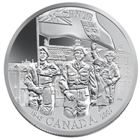 2005 Canada Liberation of the Netherlands 25-cents Silver Specimen