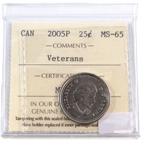 2005P Canada Veterans 25-cents ICCS Certified MS-65