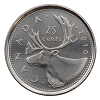 2010 Canada Caribou 25-cents Brilliant Uncirculated (MS-63)