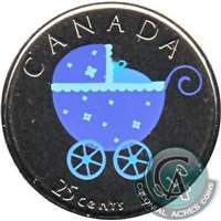 2010 Coloured Baby Canada 25-cents Proof Like