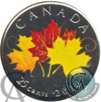2010 Canada Coloured Oh Canada 25-cents Proof Like