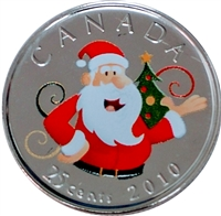 2010 Canada Coloured Santa 25-cents Proof Like