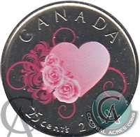 2010 Canada Coloured Wedding 25-cents Proof Like