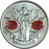 2010 Canada Poppy 25-cents Brilliant Uncirculated (MS-63)