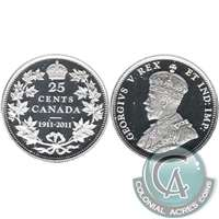 2011 Canada 100th Ann. 25-cents Silver Proof