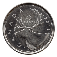 2011 Canada Caribou 25-cents Brilliant Uncirculated (MS-63)