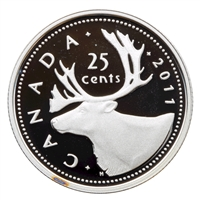 2011 Canada Caribou 25-cents Silver Proof
