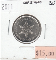 2011 Canada Christmas 25-cents Brilliant Uncirculated (MS-63)