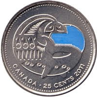 2011 Canada Coloured Orca Whale 25-cts Brilliant Uncirculated (MS-63)