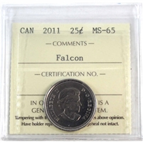 2011 Canada Falcon 25-cents ICCS Certified MS-65