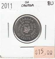 2011 Oh Canada 25-cents Brilliant Uncirculated (MS-63)