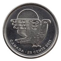 2011 Canada Peregrine Falcon 25-cents Brilliant Uncirculated (MS-63)