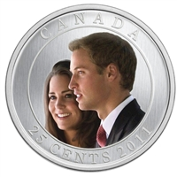 2011 Canada Royal Wedding 25-cents Specimen