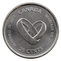 2011 Canada Wedding 25-cents Brilliant Uncirculated (MS-63)