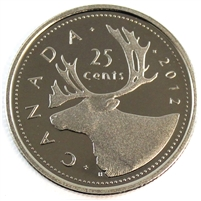 2012 Canada 25-cents Proof (non-silver)