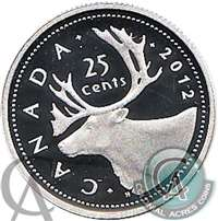 2012 Canada 25-cents Silver Proof