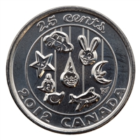 2012 Baby Canada 25-cents Brilliant Uncirculated (MS-63)