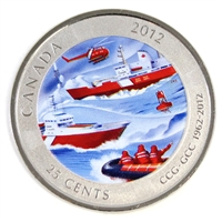 2012 Canada Coast Guard 25-cents Specimen