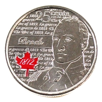 2012 Canada Coloured Isaac Brock 25-cents Brilliant Uncirculated MS-63