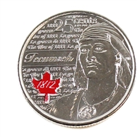 2012 Canada Coloured Tecumseh 25-cents Brilliant Uncirculated (MS-63)