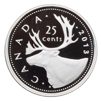 2013 Canada 25-cents Silver Proof