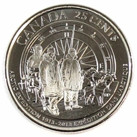 2013 Canada Arctic Expedition Frosted 25-cent Brilliant UNC. (MS-63)