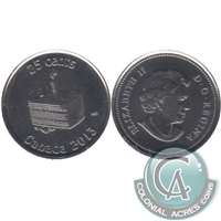 2013 Canada Birthday 25-cents Brilliant Uncirculated (MS-63)