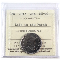 2013 Frosted Whale Canada Life In The North 25-cents ICCS Certified MS-65