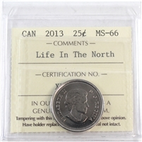 2013 Frosted Calves Canada Life In The North 25-cents ICCS Certified MS-66